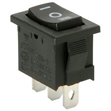 Rocker Switch SW SPDT (ON)-OFF-(ON) Wippschalter 15A Black Panel mounting