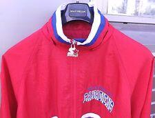 MONTREAL CANADIENS Mens STARTER NHL Vintage Zip Up Jacket Size Large Red