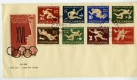 Yugoslavia Stamps # 461-8 VF Cachet First Day Cover 1956 Olympic