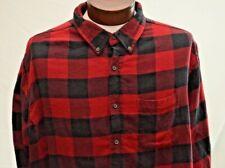 Croft & Barrow Mens Flannel Button Down Shirt 2XB Big & Tall Long Sleeve Plaid