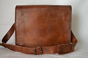 Vintage Leather Briefcase Messenger Laptop Cross body Satchel Handmade Shoulder