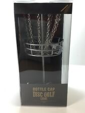 """Bottle Cap DISC GOLF BASKET Game Table Top 9"""" durable medal great office game"""