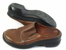 NATURALIZER BROWN LEATHER LOAFER MULES SIZE 6.5 M US EXCELLENT