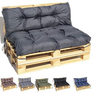 PALETTENKISSEN Sitzkissen + Rückenkissen Palettauflagen Kissen Sofa Palettenmöbe