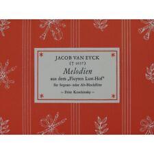 VAN EYCK Jacob Melodien Flûte à bec 1966 partition sheet music score