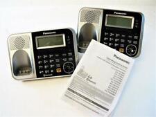 Lot of (2) Panasonic KX-TG7871S Cordless Phone Main Base Only (No Power Cord)