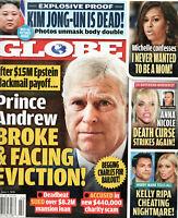 Globe Magazine June 1 2020 Prince Andrew Kim Jong-un Anna Nicole Smith
