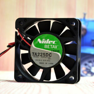 1pc Nidec R34487-55 5V 0.31A 6CM 6015 2-wire Power Supply Chassis Cooling Fan