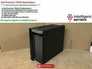 Dell T7910 Workstation  Xeon E5-2620 V3 2.60GHz 64GB 1TB SATA  500GB SSD  P4000