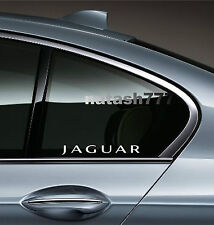 2 - JAGUAR X Tipe XK8 XKR S XJR XJ8 XJ6 Racing Decal sticker emblem logo WHITE
