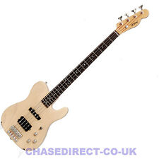 Shine Tele Style Electric Bass Guitar SBA-714 Natural Blonde Humbucker Pickup