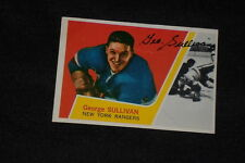 """GEORGE """"RED"""" SULLIVAN 1963-64 TOPPS SIGNED AUTOGRAPHED CARD #44 RANGERS"""