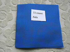 A piece of Blue 11 count Aida 18  by  12 inches