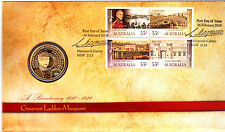 2010 Bicentenay Governor Lachlan Macquarie FDC/PNC With Commemorative $1 Coin