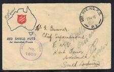"AUSTRALIA-PALESTINE1942 FIELD POST OFFICE ""FIRST BRIGADE H.Q. P.O."" P.I. LOCATED"
