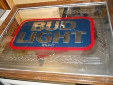 Budweiser Light Advertising sign/mirror new in original box,1988