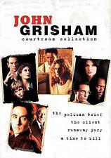 John Grisham Courtroom Collection (DVD, 2009, 4-Disc Set) Joel Schumacher * New!