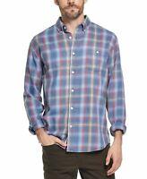 Weatherproof Mens Shirt Blue Size Small S Burnout Flannel Button Down $60 185