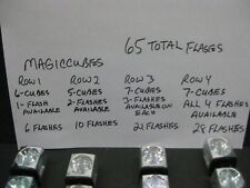 Magicubes flashbulbs 25 cubes used with 65 flash left assorted brands