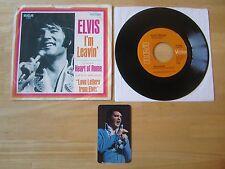 1971 Elvis 45rpm record & Sleeve, I'm Leavin'/Heart Of Rome, & Pocket Calendar