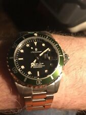 Steinhart Ocean One 39 Kermit Black Dial With Green Bezel ETA Auto Dive Watch