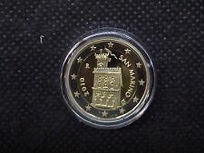 2010 SAN MARINO MONETA da 2 EURO FONDO SPECCHIO PROOF BE  PP DA SET UFFICIALE