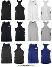 Polycotton Patternless Sleeveless Basic T-Shirts for Men