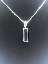 Iolite 925 Sterling Silver Blue Pendant New