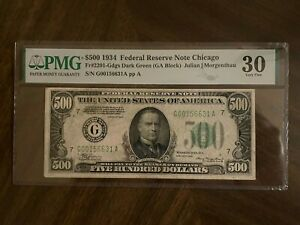 1934 $500 Federal Reserve Note Chicago PMG VF 30 Fr #2201