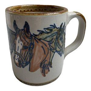 Vintage 113th Kentucky Derby Cup Louisville Stoneware Coffee Mug 1987