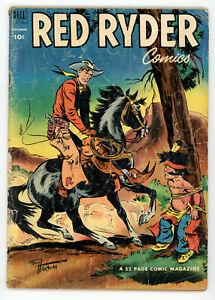 JERRY WEIST ESTATE: RED RYDER COMICS #110 (VG-) & BUCK JONES #6 (Dell 1952)