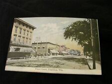 RPPC FRONT STREET EDGERTON WISCONSIN POSTED WITH STAMP 1909 .STORE FRONTS COLOR