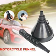 Flexible Spout Funnel Engine Oil Fluids Gasoline Filter Car Extension Hose Black