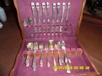 "1847 Rogers Bros. ""Eternally Yours"" 47 Piece Set from 1941 in Original Wood Box!"