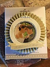2015 Hallmark Our Wedding Ornament Photo Holder w/ Blank Stickers to Personalize