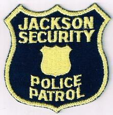 Jackson Security Police Patrol patch (unsure - MS or TN) old cheesecloth back