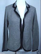 NWT Banana Republic Womens Merino Wool Cardigan Blazer Sweater Knit Black L $130
