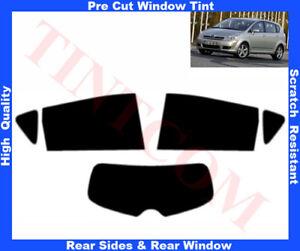 Toyota Corolla Verso 5D 04-08 Pre-Cut Window Tint 5%-50% Rear Window& Rear Sides