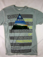 Volcom Stone Premium skate men's T-Shirt blue shirt size SMALL