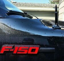 "FORD F150 RAPTOR 50 CAL CALIBER BULLET ALUMINUM STUBBY SHORT 5""  BLACK ANTENNA"