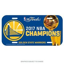 2017 NBA Champions Golden State Warriors Plastic License Plate