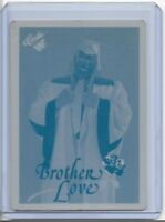 1 of 1 BROTHER LOVE 1990 CLASSIC CARD PRINTING PRESS PLATE WWF WF WRESTLING 1/1