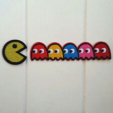 Pac-man ghosts Blinky Pinky Inky Clyde Embroidered Iron On / Sew On Patch