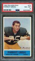 1964 Philadelphia FB Card # 73 Forrest Gregg Green Bay Packers PSA NM-MT 8 !!!