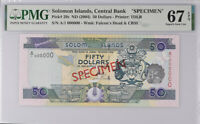 Solomon Islands 50 Dollars nd 2004 P 29 Specimen Superb Gem UNC PMG 67 EPQ Top