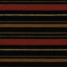 """Kaslen Noblesse Ebony Black Chenille Stripe Woven Furniture Fabric By Yard 58""""W"""