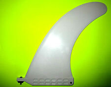 """9"""" Longboard Surfboard Fin 10"""" Center Box Sup Stand Up Paddleboard Fin White"""