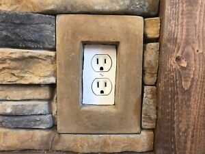 Manufactured Stone Veneer: Single Gang Receptacle/Outlet Box Smooth