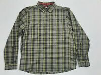 Mens The North Face Long Sleeve Button Up Shirt SIZE M  Grey/Yellow