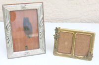 2 VINTAGE Metal Brass PICTURE FRAMES made ITALY FINE ART QUALITY